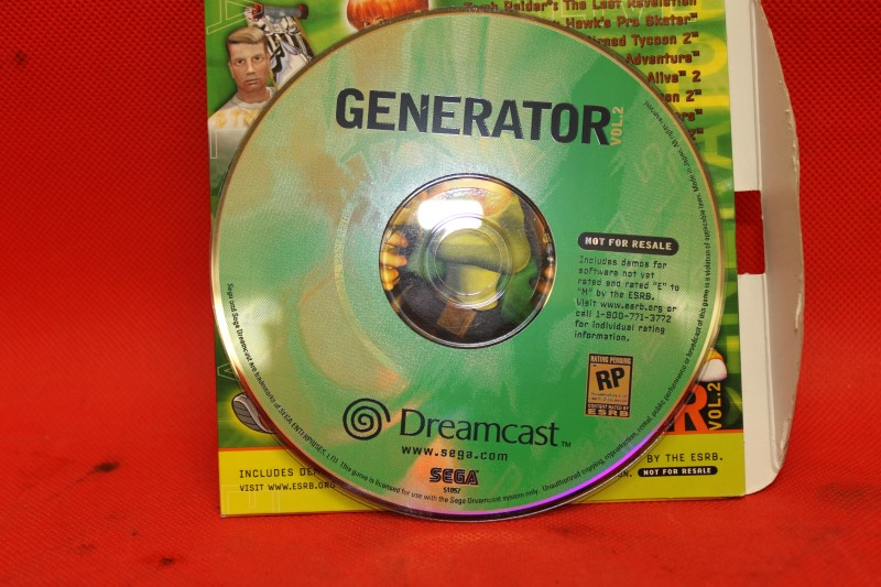 Generator Demo Disc Vol. 2 (Sega Dreamcast)