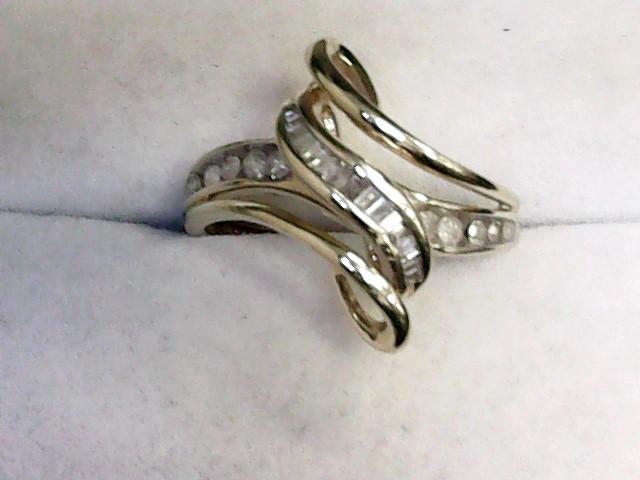Lady's Diamond Fashion Ring 17 Diamonds .51 Carat T.W. 10K Yellow Gold 2.1dwt