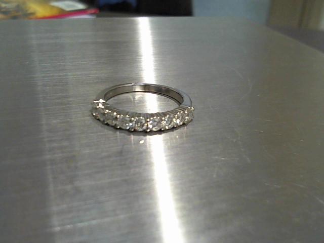 Lady's Gold-Diamond Anniversary Ring 9 Diamonds .63 Carat T.W. 14K White Gold