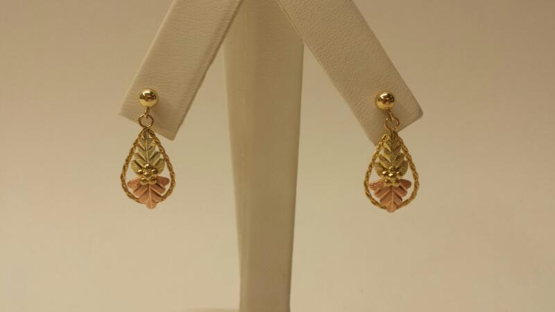 10k Black Hills Gold Earrings (PR) .8dwt