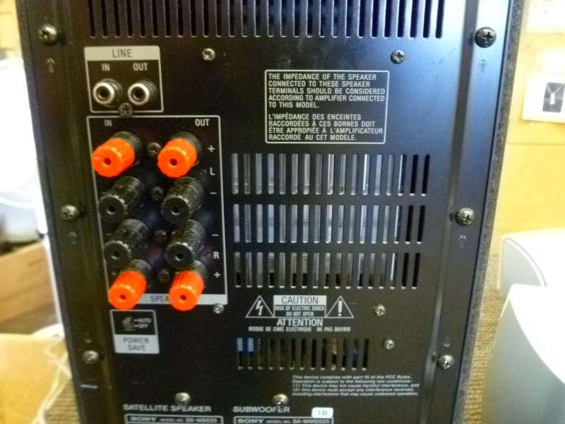 SONY SPEAKER/SUBWOOFER SS-MS525