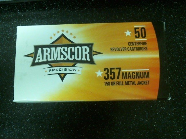 ARMSCOR Ammunition .357 MAGNUM 158 GR FULL METAL JACKET