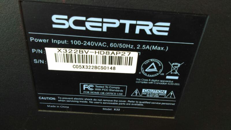 SCEPTRE X32 LED TV