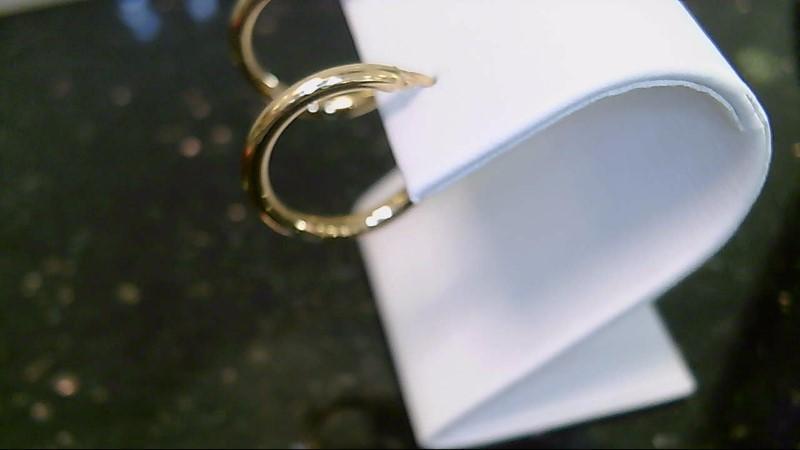 lady's 18k yellow gold hoop earrings