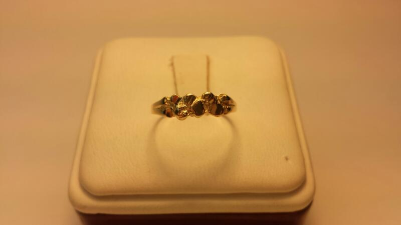 14k Nugget Ring Size: 5.5