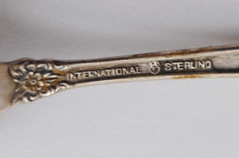 "Prelude Demitasse Spoon by International Sterling Silver 4"" NO MONO"