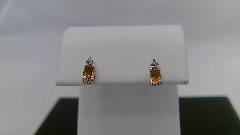 sterling silver citrine earrings