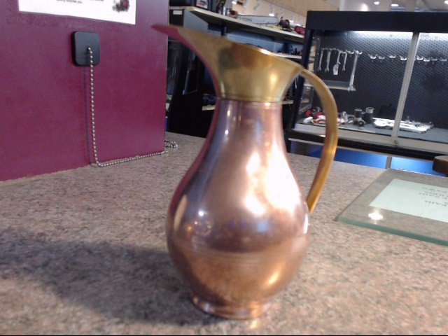 COPPER AND BRASS PITCHER