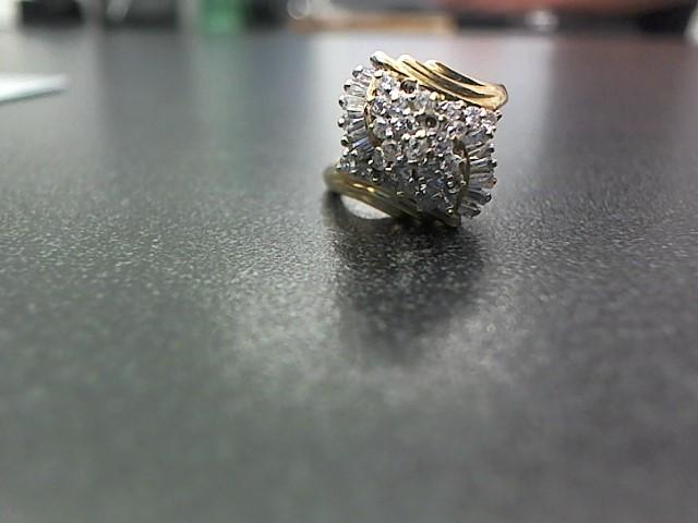 Gold-Diamond Scrap 36 Diamonds .60 Carat T.W. 14K Yellow Gold 5g