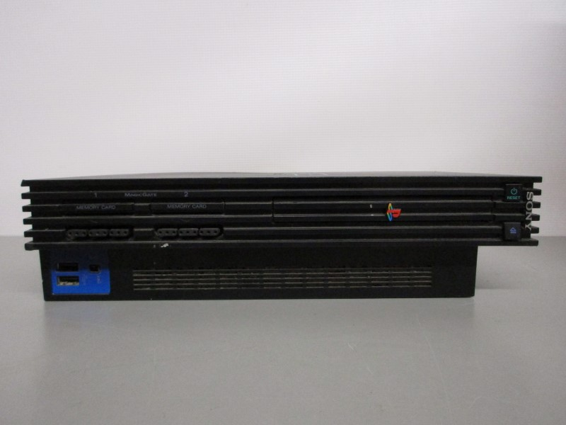 SONY PLAYSTATION 2 CONSOLE w/CONTROLLERS, MEMORY CARDS