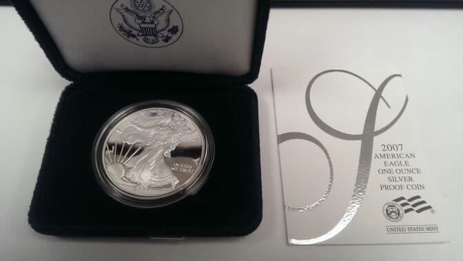 UNITED STATES 2007 AMERICAN SILVER EAGLE PROOF