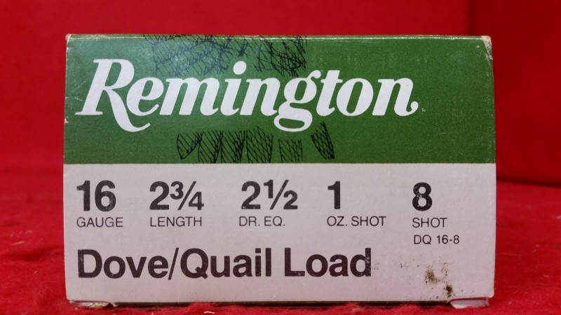 "Remington 16ga 2-3/4"" Ammo - Dove / Quail"