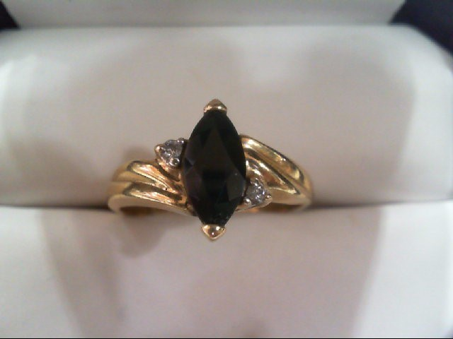 Lady's Diamond Fashion Ring 2 Diamonds .04 Carat T.W. 14K Yellow Gold 2.8g