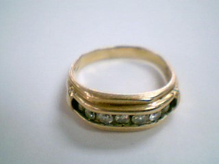 Gent's Gold-Diamond Wedding Band 7 Diamonds .70 Carat T.W. 14K Yellow Gold 6.7g