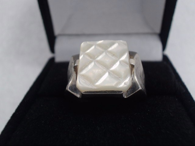 Gent's Gold Ring 10K White Gold 8.3g
