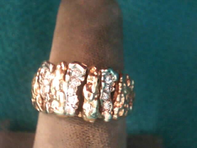 Gent's Diamond Fashion Ring 12 Diamonds .12 Carat T.W. 10K Yellow Gold 4.2dwt