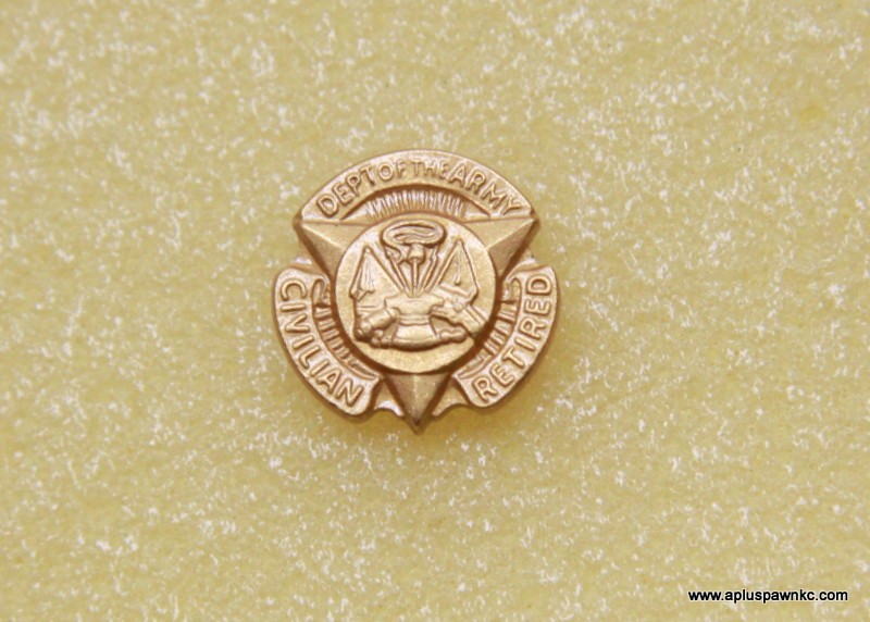 VINTAGE DEPT OF ARMY CIVILIAN RETIRED PIN. 16MM