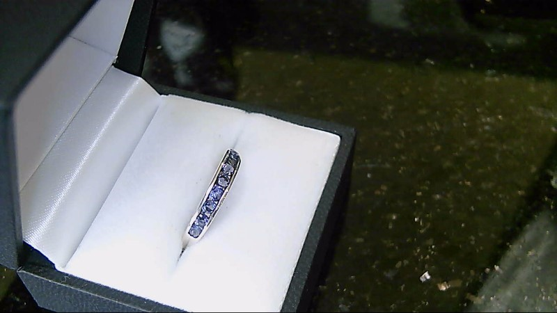Lady's Tanzanite Sterling Silver Ring SZ 7.5