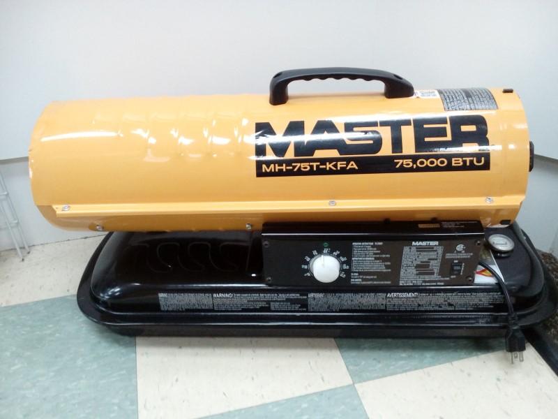 MASTER 75,000 BTU PORTABLE KEROSENE HEATER MH-75T-KFA