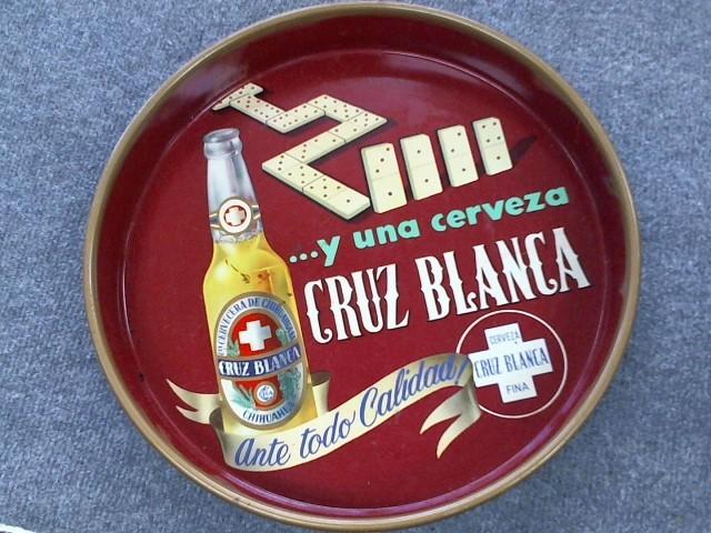 VINTAGE BEER TRAY Sign CERVEZAS MOCTEZUMA