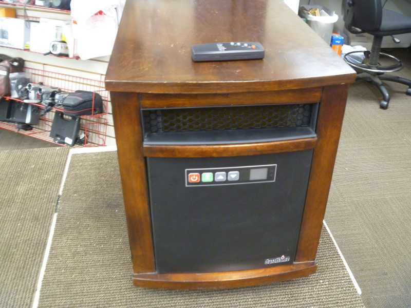 DURAFLAME 10QI071ARA INFRARED QUARTZ HEATER 5200 BTU 1500 WATT WITH REMOTE