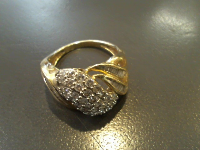 Lady's Diamond Fashion Ring 78 Diamonds 2.04 Carat T.W. 10K Yellow Gold 5.1g