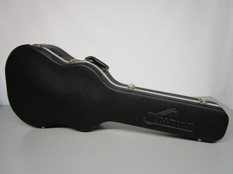 OVATION HARD GUITAR CASE, SHALLOW BOWL, ROUND-BACK, SINGLE CUTAWAY