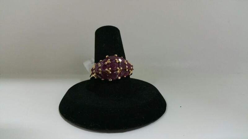 PURPLE STONE(S) Purple Stone Lady's Stone Ring 10K Yellow Gold 2.5dwt