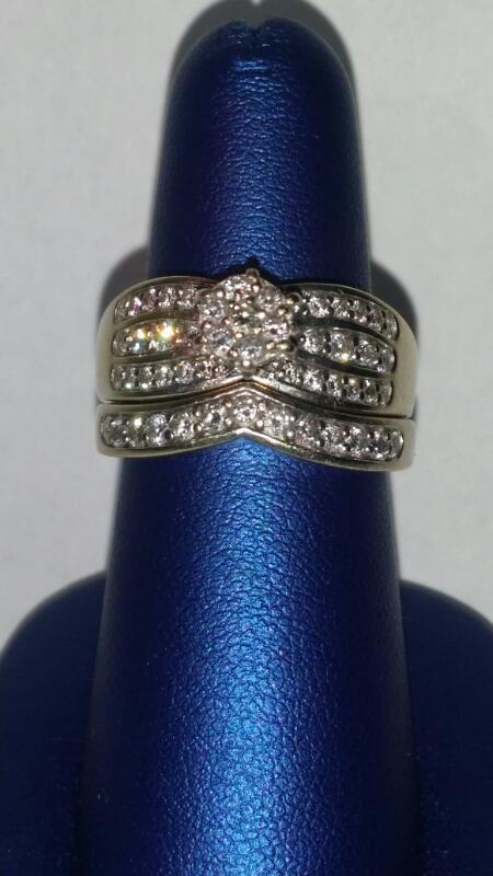 Lady's Diamond Wedding Band 52 Diamonds .55 Carat T.W. 14K White Gold 9.3g