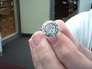 Pandora Lady's Silver-Diamond Ring 40 Diamonds .40 Carat T.W. 925 Silver 3.8g
