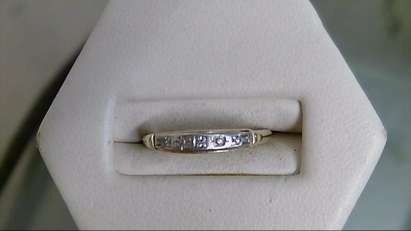 Lady's Diamond Wedding Band 3 Diamonds .015 Carat T.W. 14K Yellow Gold 1.3g