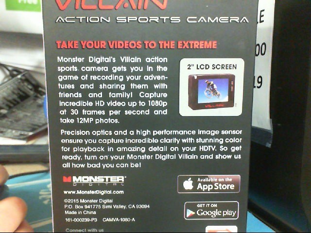 Monster Action Sports Digital Camera Villian