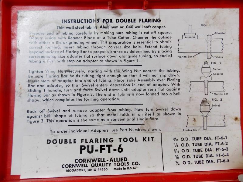 DOUBLE FLARING TOOL KIT PU-FT-6