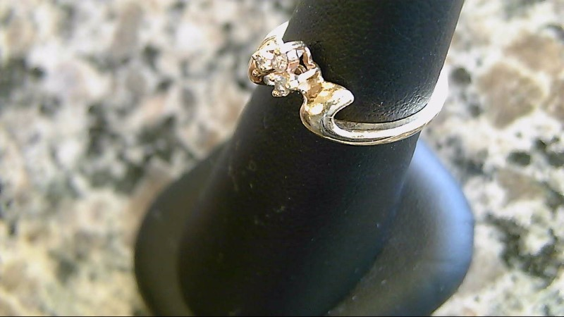 Lady's Diamond Fashion Ring 3 Diamonds .03 Carat T.W. 14K Yellow Gold 1.6g