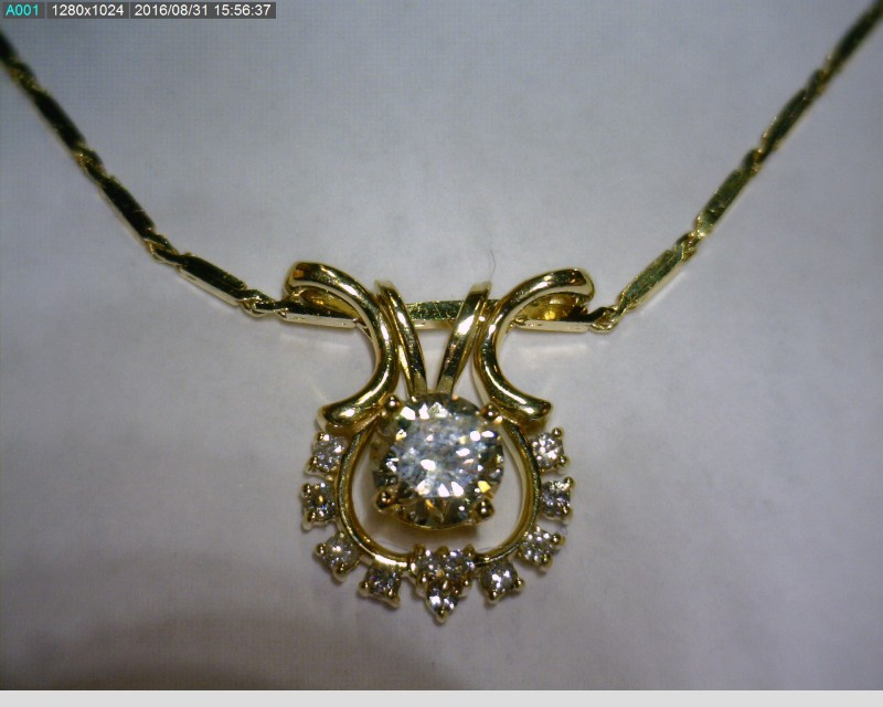 "18"" Diamond Necklace 12 Diamonds .57 Carat T.W. 14K Yellow Gold 2.93dwt"