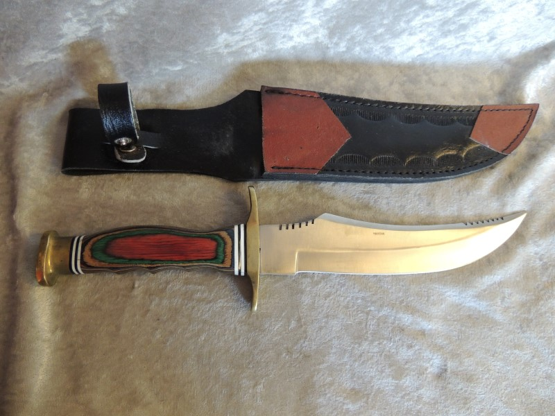 "WILDWOOD RASTA KNIFE 7"" +SHEATH"