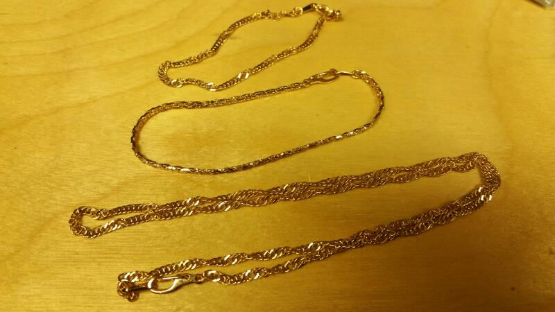 Gold Bracelet Yellow Gold Electroplate 2dwt
