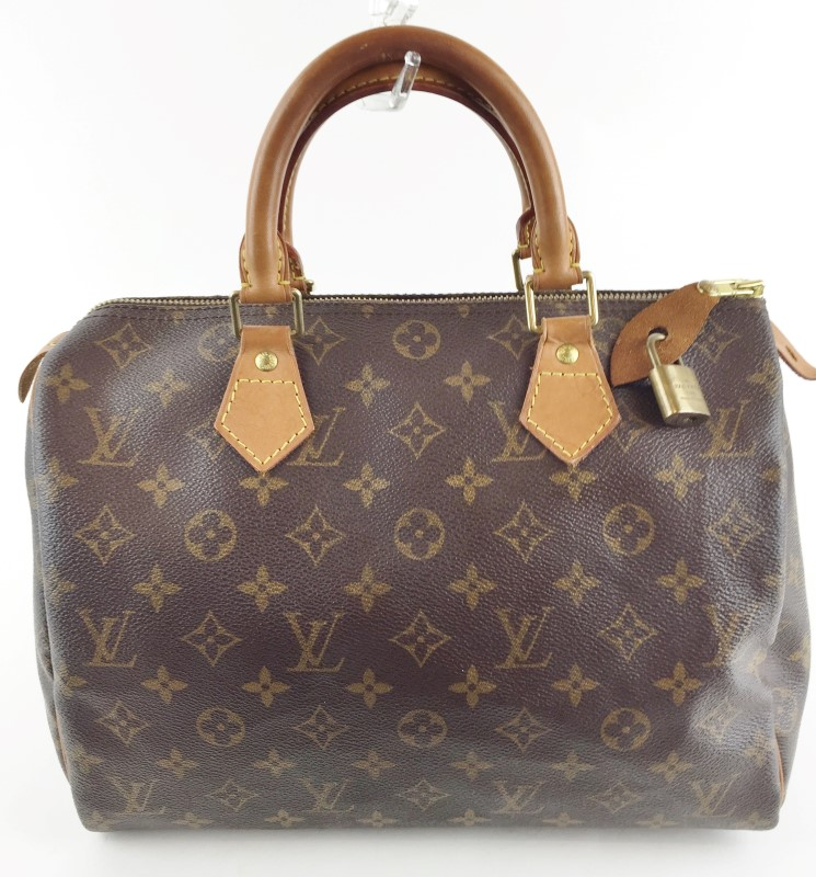 LOUIS VUITTON MONOGRAM SPEEDY 30 HONEYED LEATHER TRIM