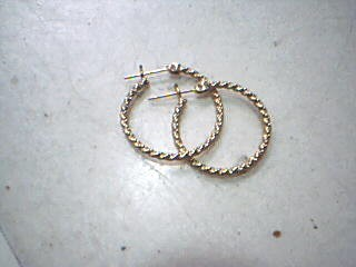 Gold Earrings 14K Yellow Gold 1.4g