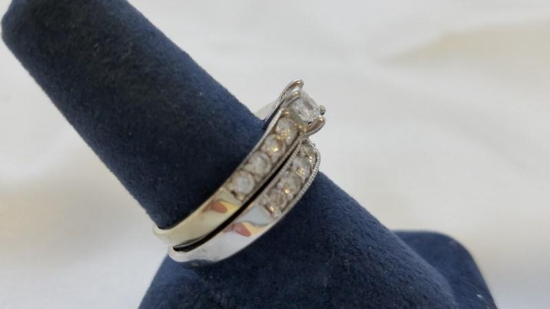 Kay's Leo Bridal Collection Wedding Set, 14k, White Gold, 1.38 TCW