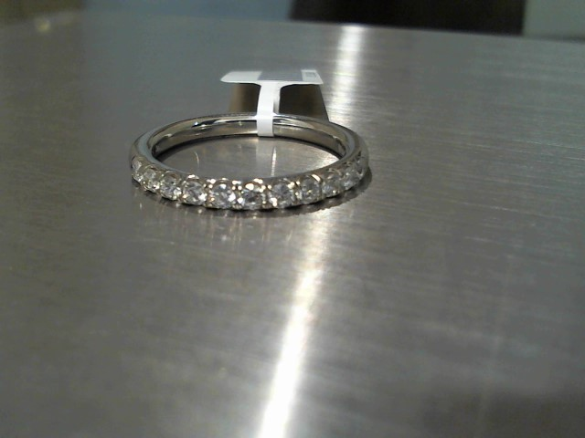 Lady's Diamond Wedding Band 11 Diamonds .33 Carat T.W. 14K White Gold 2.9g