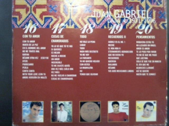 CD MUSIC BY TITLE CD JUAN GABRIEL 25 ANIVERSARIO