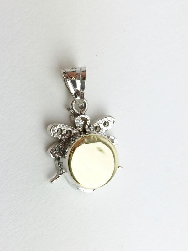 Sapphire & Diamond 18 Diamonds .54 Carat T.W. 14K White Gold