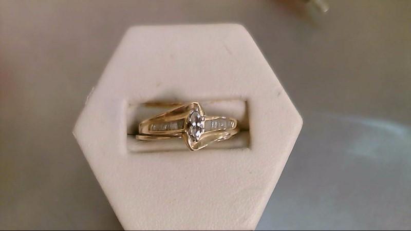 Lady's Diamond Wedding Set 17 Diamonds .23 Carat T.W. 14K Yellow Gold 3.8g