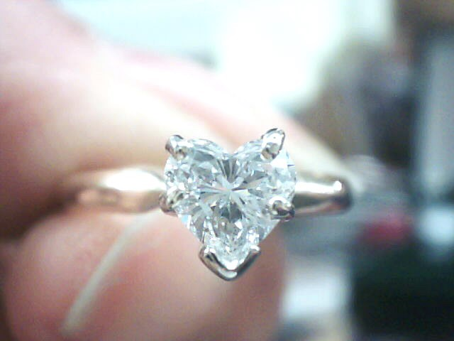 Lady's Diamond Solitaire Ring .47 CT. 14K Yellow Gold 3.2dwt