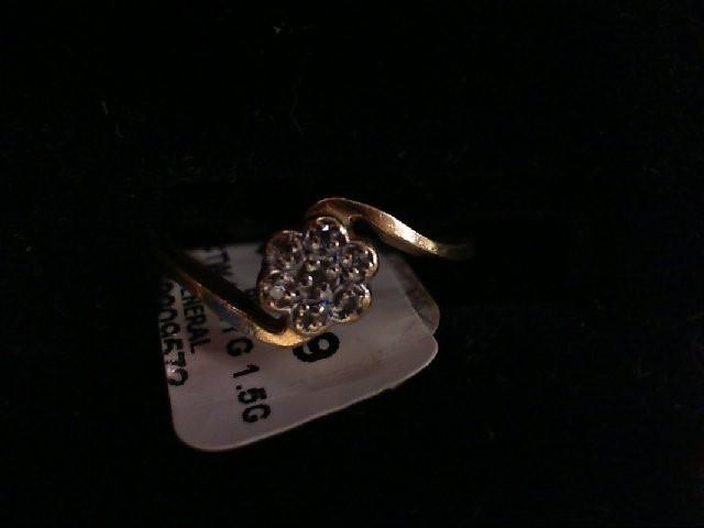 Lady's Diamond Fashion Ring 5 Diamonds .10 Carat T.W. 10K Yellow Gold 1.5g