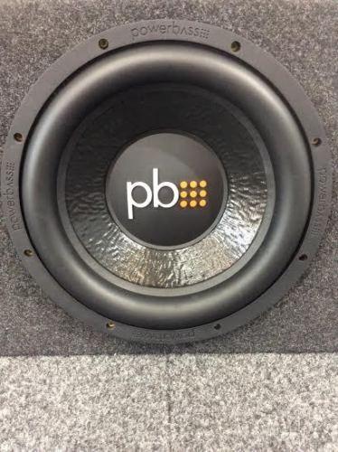"PowerBass M-1204D 12"" Inch Black Subwoofer 375W RMS 750W Peak 4-Ohm SVC with Box"