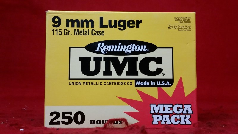Remington 9mm 115gr FMJ 250 Round Value Pack
