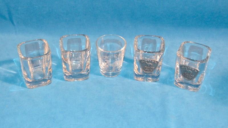CAMEL CIGARETTS SHOT GLASSES GENUINE TASTE SET OF 5