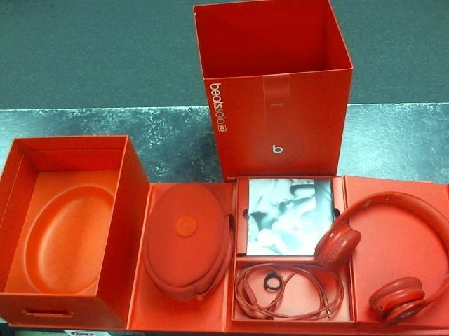 BEATS AUDIO Headphones SOLO HD RED